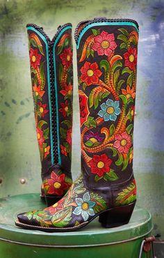 Rocketbuster, El Paso Texas. Handmade custom boots.