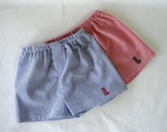 Here you go @Katie Perdue !! and they already have Landon's initial :D seersucker, monogrammed shorts.