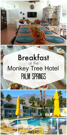 Breakfast at The Monkey Tree Hotel in Palm Springs