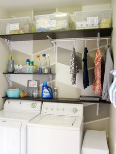 "Outstanding ""laundry room storage diy shelves"" detail is available on our internet site. Check it out and you wont be sorry you did. Garage Laundry Rooms, Laundry Room Shelves, Laundry Closet, Laundry Storage, Laundry Room Organization, Laundry Room Design, Small Storage, Closet Storage, Storage Organization"