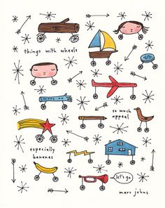 Things with wheels have so much appeal.  (by Marc Johns)