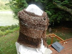 Hand Knitted natural wool BFL mohair alpaca by Micheleshats