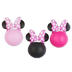 Tips and Trick on Birthday Party Ideas Minnie Mouse Birthday Theme, Minnie Mouse Halloween, Minnie Mouse Baby Shower, Mickey Mouse, Minnie Mouse Pink, 3rd Birthday, Birthday Ideas, Minnie Mouse Balloons, Paper Lanterns Party