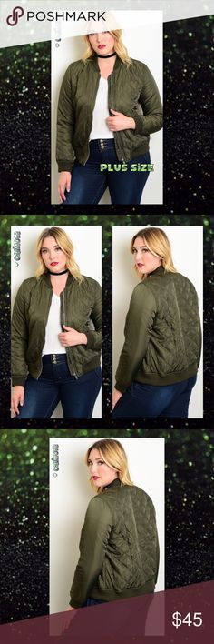 """‼️1HR SALE NO OFFERS 1 LEFT ONLY🆕Plus Size Olive New Plus Size Olive Green Quilted Bomber Jacket Color: Olive Green Made in CHINA Material: 100% Polyester Fits true to size  Sizes Avail: 1X, 2X Approx measurements based on the 1X: Bust: 38"""" Waist: 42"""" Length: 27"""" 💠💠PRICE FIRM UNLESS BUNDLED💠💠 ⭐️⭐️LOWBALL AND TRADE OFFERS WILL BE IGNORED (SORRY)⭐️⭐️ Glam Squad 2 You Jackets & Coats"""