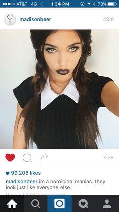 Wednesday Addams!!                                                                                                                                                     More