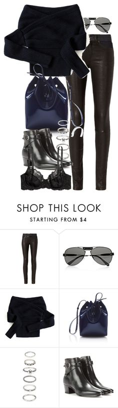 """""""Untitled #9767"""" by nikka-phillips ❤ liked on Polyvore featuring rag & bone, Chloé, Chicwish, Mansur Gavriel, Forever 21, Yves Saint Laurent and H&M"""