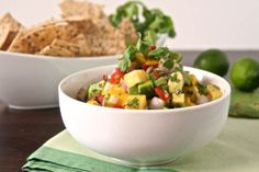 Mango, avocado and nopales salsa. Learn to cook with cacti to add nutrients to your diet.