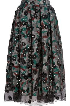 Holly Fulton Floral Midi Skirt