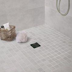 Mosaique_sol_et_mur_oslo_blanc   Pour Une Ambiance Très Douce, Revêtement  De Douche Dans La Suite Parentale ?
