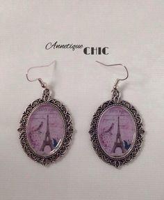 Silver Parisian Cameo Earrings