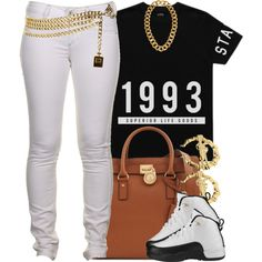 A fashion look from April 2014 featuring Stampd, skinny jeans and leather totes. Browse and shop related looks. Lit Outfits, Casual School Outfits, Cute Swag Outfits, Jordan Outfits, Dope Outfits, Dope Fashion, Urban Fashion, Teen Fashion, Fashion Outfits