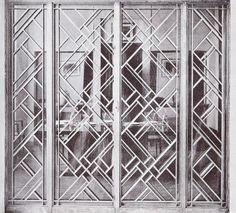 window grill by Raymond Subes Estilo Art Deco, Arte Art Deco, Gate Design, Screen Design, Door Design, Interiores Art Deco, Door Grill, Art Deco Door, Window Grill Design