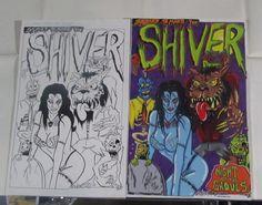 ORIGINAL MONSTER ART SHIVER HORROR VINTAGE COMIC BOOK COVER PARODY SCHERES