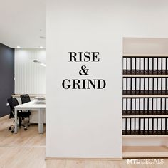 RISE & GRIND Wall Decal / Wall Sticker / Wall Decor by mtldecals