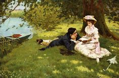 Afternoon Pastimes by Edward R King