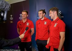 Bale (centre) spoke with the media in Cardiff at an event to launch the 2017…