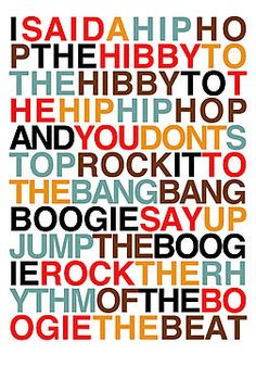 :-D now what you hear is not a test, I'm rappin' to the beat.... Still love this!!