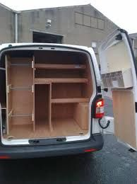 Image result for van shelving Trailer Shelving, Van Shelving, Trailer Storage, Truck Storage, Volkswagen Interior, Van Organization, Organizing Ideas, Caddy Van, Rv Solar Panels