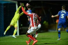 January 25th. 2015: Rochdale 1- Stoke City 4 in the FA Cup, with Victor Moses scoring Stoke's second.