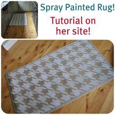 Spray Painted Rugs