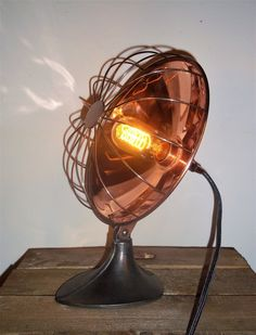 UpCycled Vintage Copper Heat Lamp Adjustable Industrial/Steampunk Table Lamp in Home, Furniture & DIY, Lighting, Lamps | eBay!