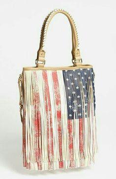 Flag tassel bag