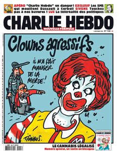 Clowns agressifs #JeSuisCharlie #CharlieHebdo