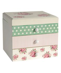 Look what I found on #zulily! Polka Dot & Floral Jewelry Box by Established 98 #zulilyfinds