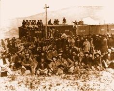 Irish Railroad Crew Union Pacific 1869 Vintage Photograph