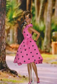 Toujours Couture in Pink Polka Dot Dress | by ksavoie1213