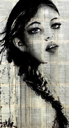 "Saatchi Art Artist Loui Jover; Drawing, ""clair de lune"" #art"