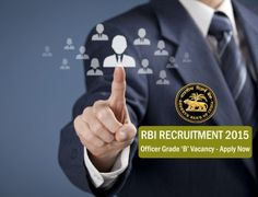 RBI Officer Grade B Exam 2015 – Apply Now