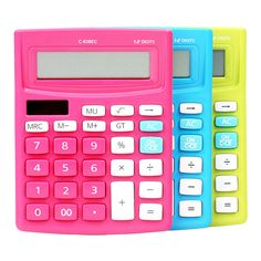 2017 Colorful Solar Mini Desktop Calculator Office Electronic Calculadora Student Stationery Supplier High Quality Calculatrice