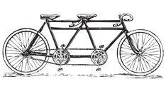 Free vintage tandem bicycle clip art