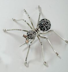 Sterling silver wire and sterling silver bali beads