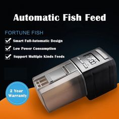 Food Hopper Holds Resun AF-2005D LCD Display Fish Feeder Automatic Fish Feeder