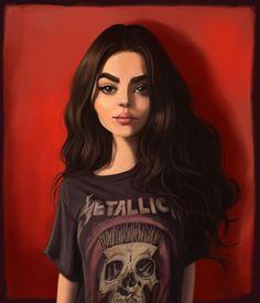 Another stylized portrait