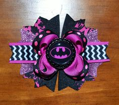 Hey, I found this really awesome Etsy listing at http://www.etsy.com/listing/163841876/batman-batgirl-bat-chevron-boutique-hair