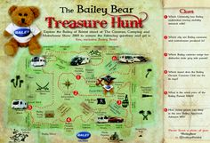The Bailey Bear Treasure Hunt map - find the clues around the Bailey of Bristol stand at The Caravan, Camping & Motorhome show at the NEC. Treasure Hunt Map, Geronimo, Motorhome, Bristol, Fun Activities, Caravan, Camping, Bear, This Or That Questions