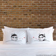 Cute Valentine's Day gifts for boyfriend or husband- BoldLoft You're So Kissable His and Hers Couple Pillowcases. Get these couples pillowcases as a kinky surprise and have a naughty fun night! Perfect novelty gifts for him & her. Shop fun gag gifts for your beloved today!