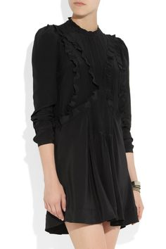 Isabel Marant | Salvia ruffled silk dress | NET-A-PORTER.COM