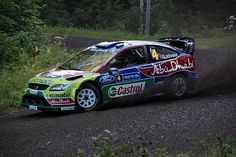Jari-Matti Latvala with his Ford Focus RS WRC 09 at the 2009Rally Finland