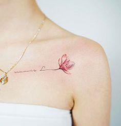 magnolia tattoo for women