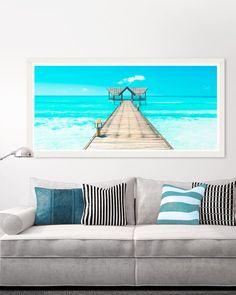 Tablou Framed Art Tropical Seascape Framed Art, Tropical, Tapestry, Throw Pillows, Modern, Poster, Vintage, Home Decor, Hanging Tapestry