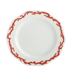 Tony Duquette by Mottahedeh's BARRIERA CORALLINA RED BREAD & BUTTER PLATE
