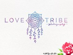 Love Tribe Logo Dreamcatcher Logo Boho Logo Water by AllEyesOnHer