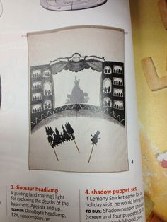 Create a shadow puppet backdrop! Puppets: tiny hands or paper cut outs (shown)