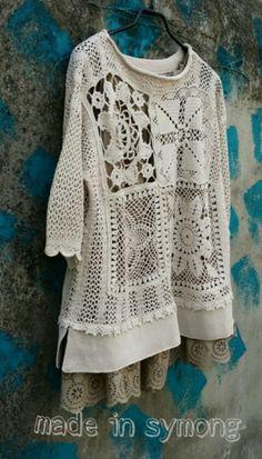 Fabulous Crochet a Little Black Crochet Dress Ideas. Georgeous Crochet a Little Black Crochet Dress Ideas. Crochet Vest Pattern, Crochet Tunic, Crochet Flower Patterns, Diy Crochet, Crochet Designs, Knitting Designs, Crochet Clothes, Crochet Top, Crochet Vests
