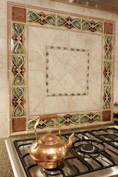 Interesting use of borders for stove backsplash.  http://www.hearthstonedesignllc.com