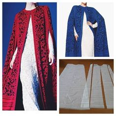 Kaftan cape pattern: make this with an antique Paisley, bestill my heart!
